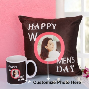 Personalised Coffee Mug and Cushion for Womens Day