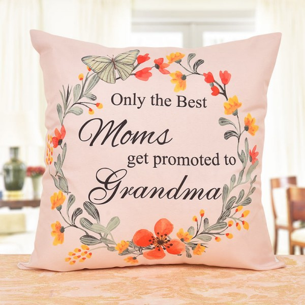 Printed Cushion for Grandmother