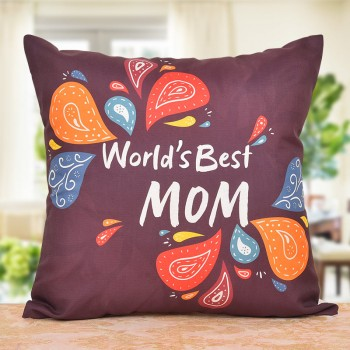 Worlds Best Mom Printed Cushion