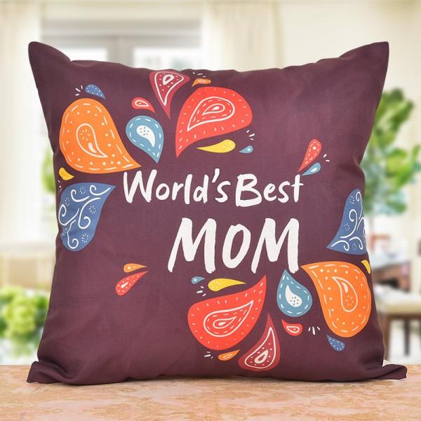 Worlds Best Mom Printed Cushion