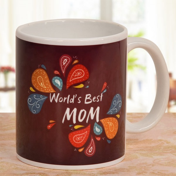 Worlds Best Mom Printed Mug
