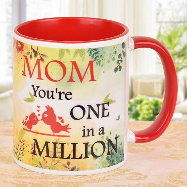 One In A Million Mom Printed Mug