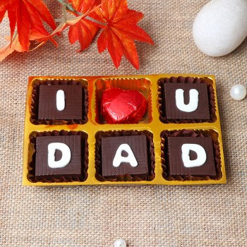 One Pack of 6 pcs Handmade Chocolate For DAD
