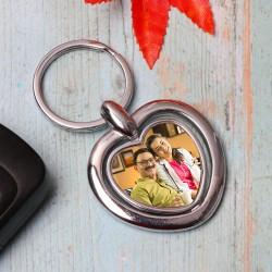 Personalised Metal Heart Keychain