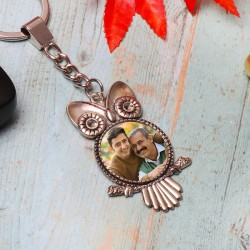 Owl Shaped Personalised Keychain