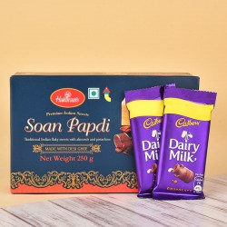 Soan Papdi N Dairy Milk Chocolates