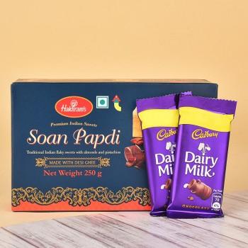 Soan Papdi N Dairy Milk Chocolates