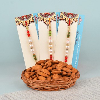Set of 3 Rakhis N Almonds