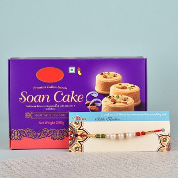 Pearl Rakhi N Soan Cake