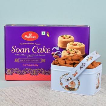 Tin Box of Almond and Soan Papdi