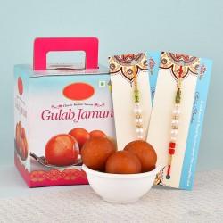Charming Rakhi N Gulab Jamun Combo