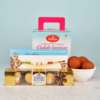 Exciting Pearl Rakhi Hamper