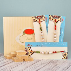 Exclusive Pearl Rakhi Hamper