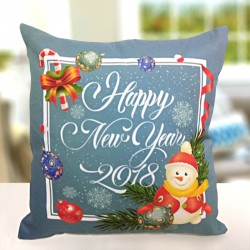Glowing New Year Cushion