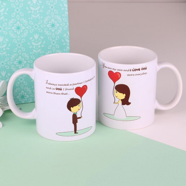 Printed Couple Mugs