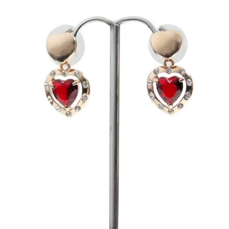 Embellished Hearts Earrings