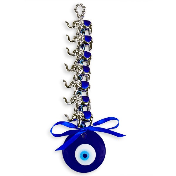Elephants Evil Eye Wall Hanging