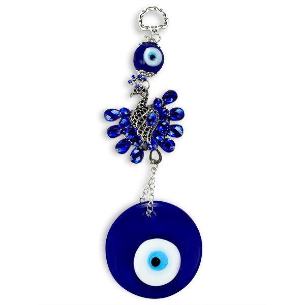 Embellished Peacock Evil Eye Wall Hanging