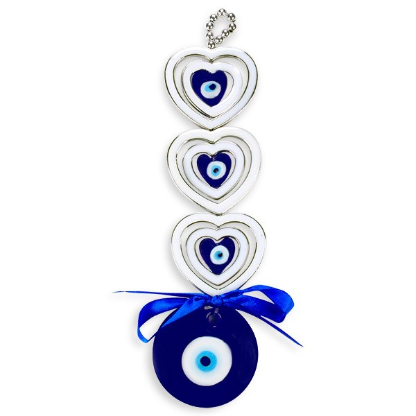 Hearts Evil Eye Wall Hanging