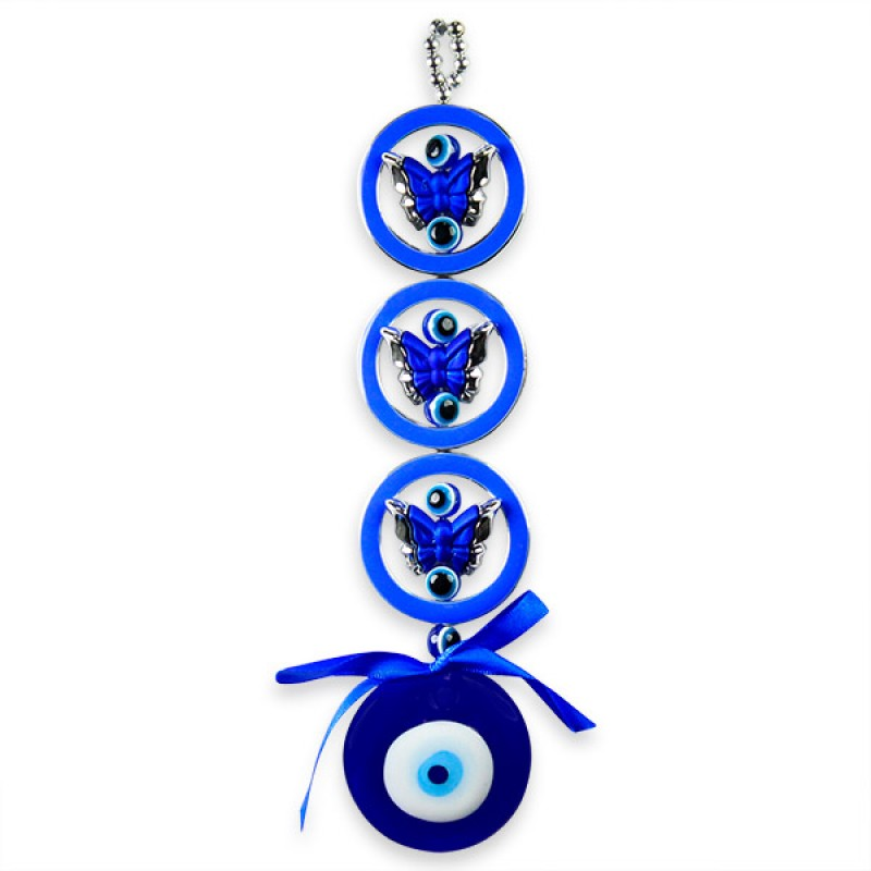 Butterflies Evil Eye Wall Hanging