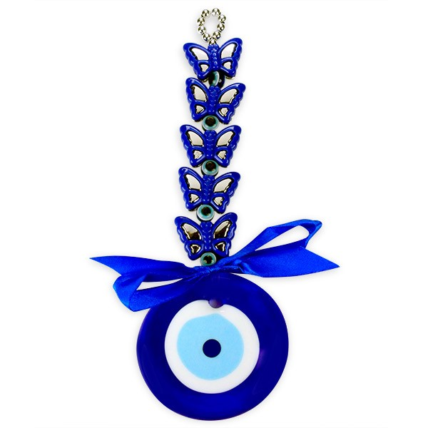 Evil Eye Butterflies Wall Hanging