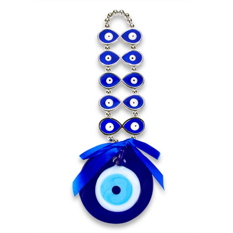Beaded Evil Eye Wall Hanging