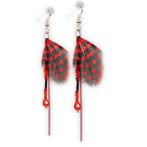 Trendy Hanging Feather Earrings