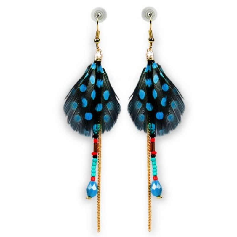 Stylish Hanging Feather Earrings