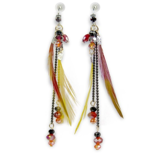 Chic Hanging Feathers Earrings
