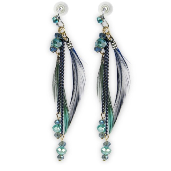 Stylish Hanging Feathers Earrings