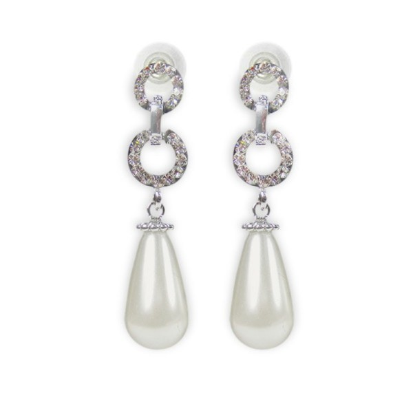 Dangling Faux Pearl Earrings