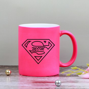 One Supermom Pink Color Neon Coffee Mug