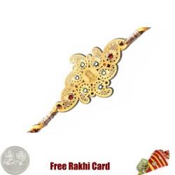 Diviniti 24 Ct. Gold Ganesha Rakhi
