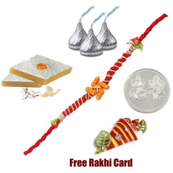 Rakhi With Sweets and Chocolates