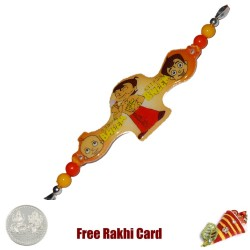Natkhat Bheem Rakhi with a Free Silver Coin