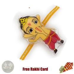 Bal Ganesha Rakhi with a Free Silver Coin