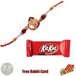 Ethnic Rakhi with KitKat Bar