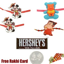 4 Kids Rakhi with Hershey Bar
