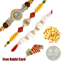 3 rakhis with 50 grams DF