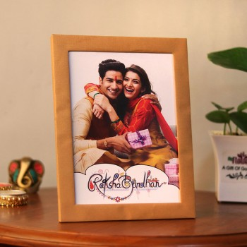 One Personalised Photo Frame for Rakhi