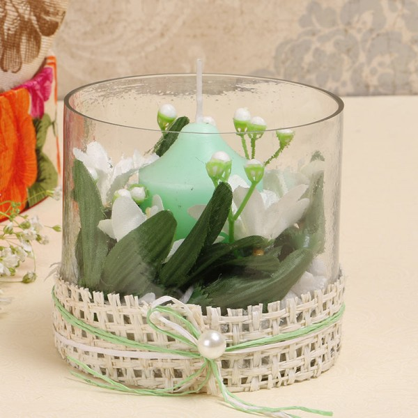 Green Candle Table Top