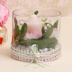 Pink Candle Table Top
