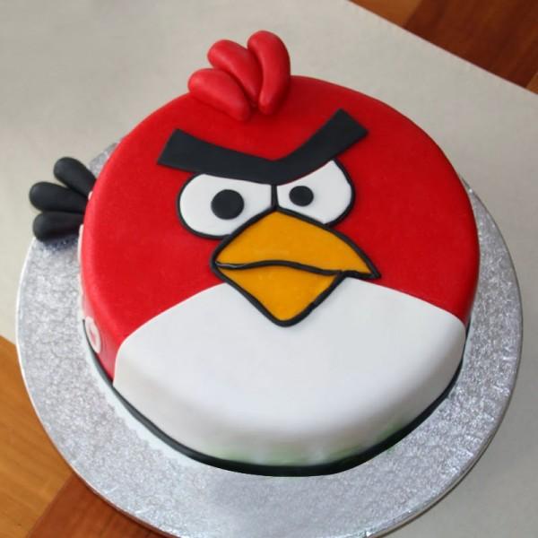 1 Kg Angry Bird Theme Designer Chocolate Fondant Cake