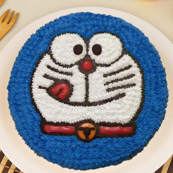 1 Kg Doremon Theme Chocolate Cream Cake