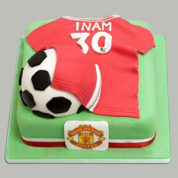 Astounding Manchester United Cake Myflowertree Birthday Cards Printable Nowaargucafe Filternl