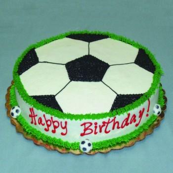 1 Kg Football Theme Chocolate Cream Cake For Birthday