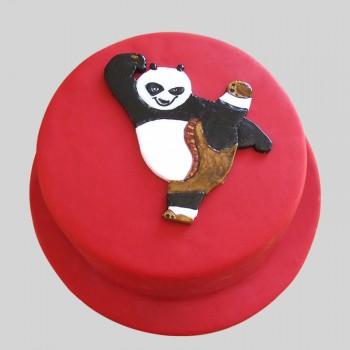 1 Kg Kungfu Panda Chocolate Fondant Cake