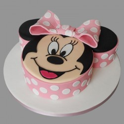2 Kg Minnie Mouse Theme Chocolate Fondant Cake