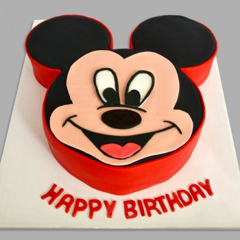 1 Kg Mickey Mouse Theme Chocolate Fondant Cake for Birthday