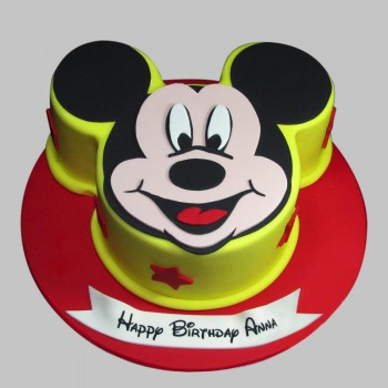 1 Kg Mickey Mouse Theme Chocolate Fondant Birthday Cake